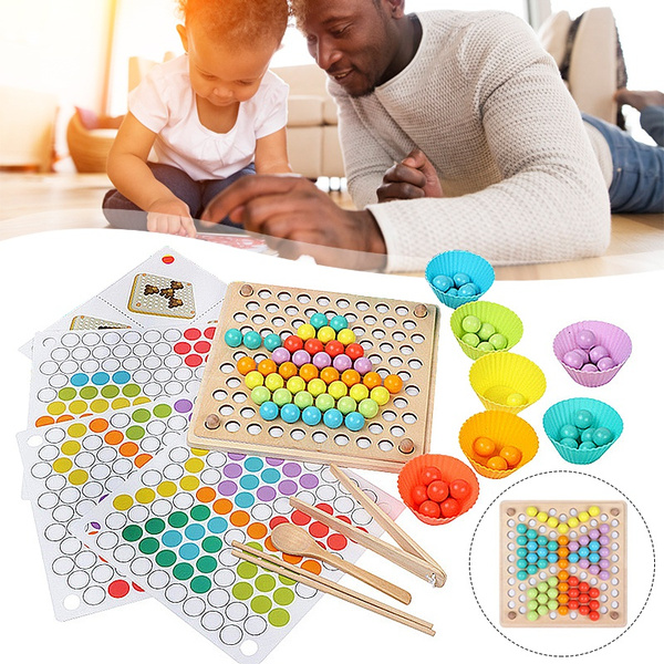 clipbeadsgame, Toy, montessoritoy, traininginteractiveclip