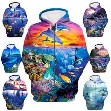 dolphinhoodie, printhoodie, Fashion, funnyjacket