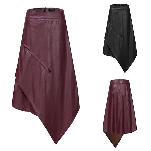 long skirt, backzipperskirt, Waist, laceupskirt