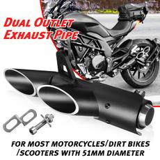 exhaustsystem, Yamaha, mufferpipe, Honda