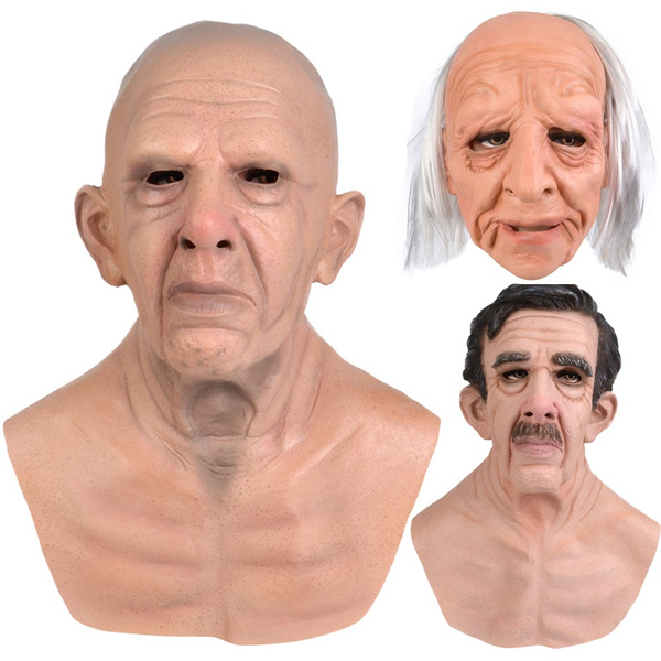 oldmanmask, rubbermask, partymask, Silicone