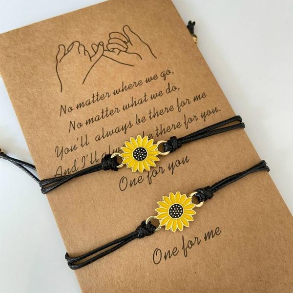 Fashion Jewelry, rope bracelet, Jewelry, sunflowerbracelet