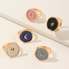 moonstonering, Fashion, Love, Rose Gold Ring