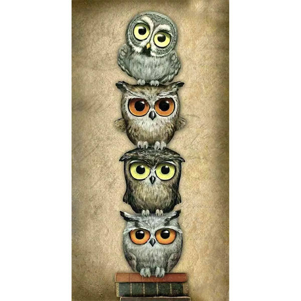 cute, DIAMOND, Home Decor, Owl