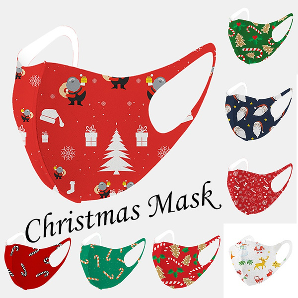 Fashion, mundschutzmasken, Christmas, Masks