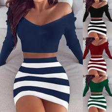 Summer, Fashion, Mini, Long Sleeve