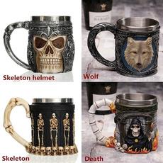 Steel, Coffee, winemug, Skeleton