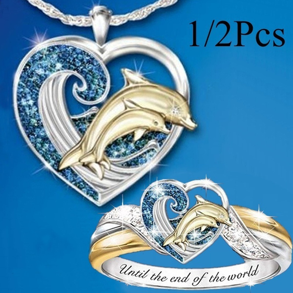 Blues, dolphinring, DIAMOND, 925 sterling silver
