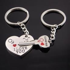 Keys, Heart, Key Chain, Chain
