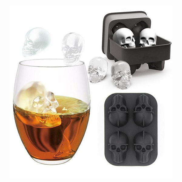 beverageicecubemold, siliconeicecubemold, skeletonicecube, skull