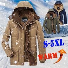 Fleece, Fashion, Winter, Long Coat