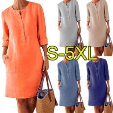 Round neck, Fashion, sleeve dress, Shirt
