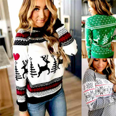 Plus Size, Christmas, Tops, Pullovers