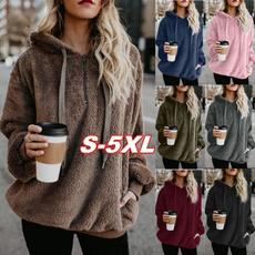 Plus Size, Outerwear, Women Blouse, Long sleeved
