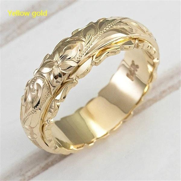 fashion women, 18k gold, wedding ring, gold