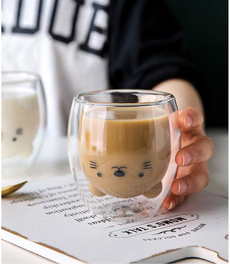 glasscup, cute, Coffee, Home Decor