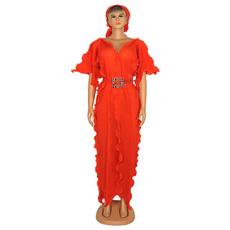 Fashion, ruffle, robefemme, Dress
