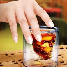 whiskeyglas, skull, Cup, doubleglasswineglas