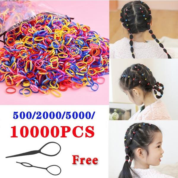 colorfulhairband, disposablerubberband, Colorful, hairropeforgirl