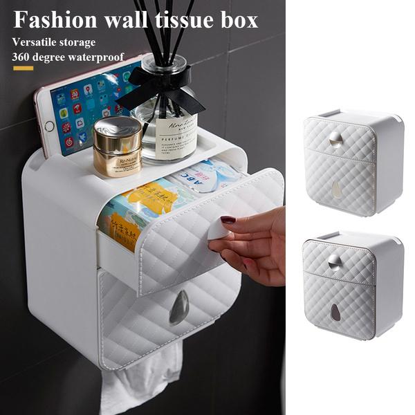Box, Wall Mount, Bathroom Accessories, Towels