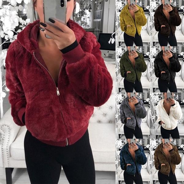 fur coat, Plus Size, Winter, sweater coat