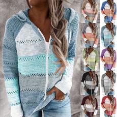 Plus Size, Hoodies, sweater coat, Long Sleeve