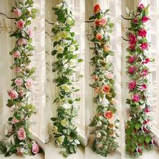 Flowers, leaf, Garland, Rose