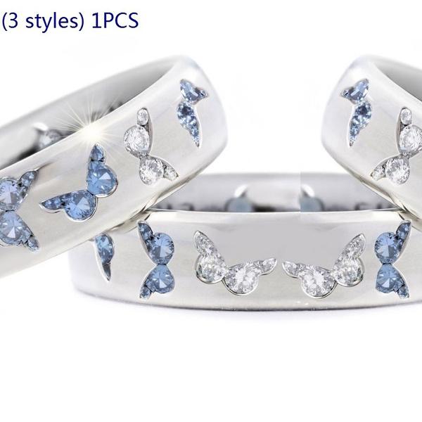Sterling, butterfly, DIAMOND, Jewelry