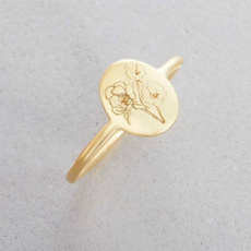Flowers, wedding ring, gold, flowerring