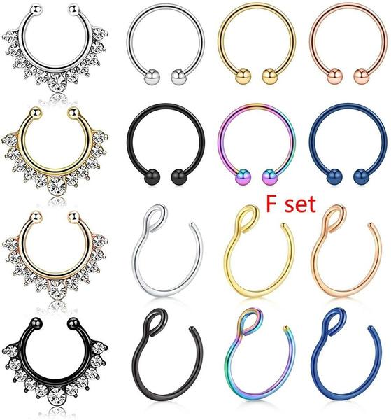 Steel, hoopnose, Jewelry, steelnose