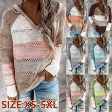 stitchingcolorsweater, hooded sweater, Fashion, Sleeve