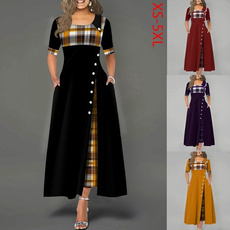 plaid, Plaid Dress, Sleeve, long dress