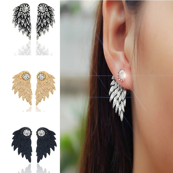 Goth, piercingjewelryearring, Angel, Stud Earring