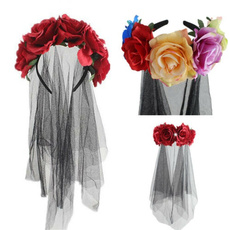 ghostparty, womenheadbandhairloop, Flowers, Cosplay