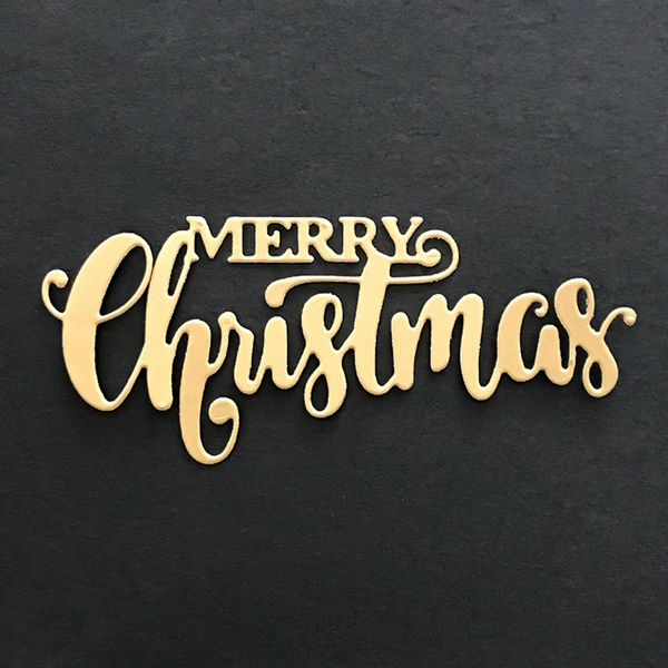 stencil, christmascuttingmold, merrychristmasletter, Embossing