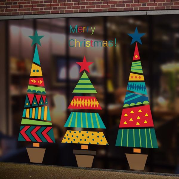 windowsticker, Home Decor, christmastreeposter, Stickers