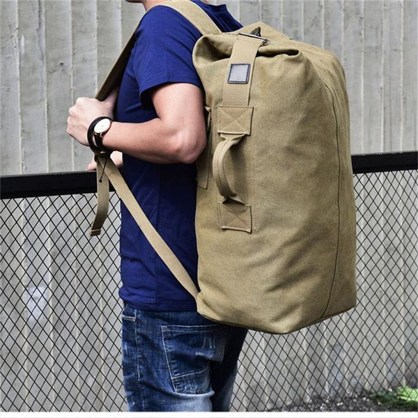 Shoulder Bags, khaki, Canvas, Outdoor Sports