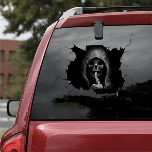 decoration, automotiveglas, Skeleton, skull