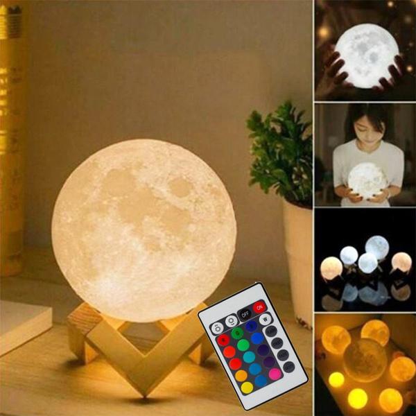 led, 3dmoonlamp, Night Light, Gifts