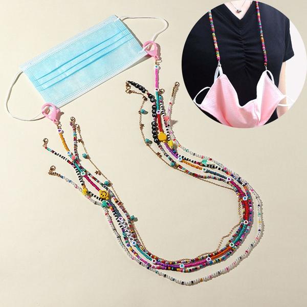 maskchain, masknecklace, Jewelry, Chain