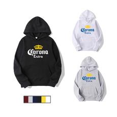 coronaextra, Casual Hoodie, Sleeve, black hoodie