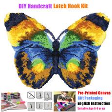 crossstitch, latchhookkit, butterfly, Colorful