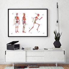 runningskeletonillustration, medicalartposter, art, Home Decor