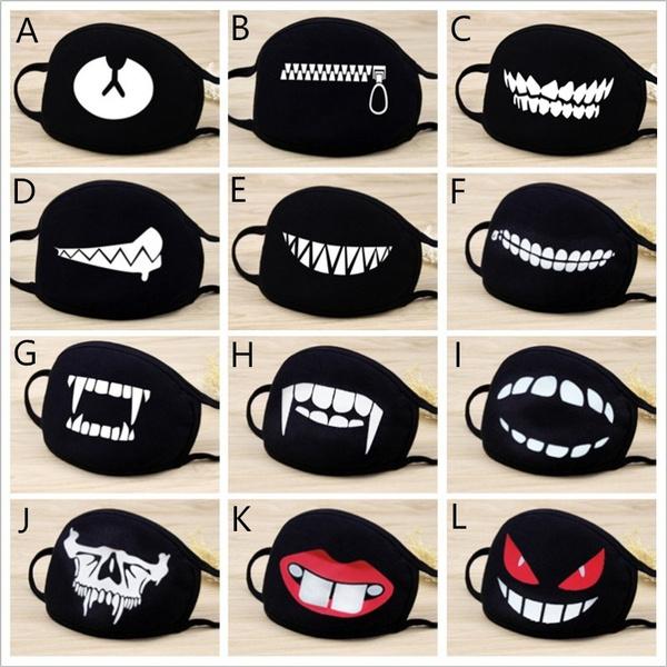 cute, Cotton, blackmask, mouthmuffle
