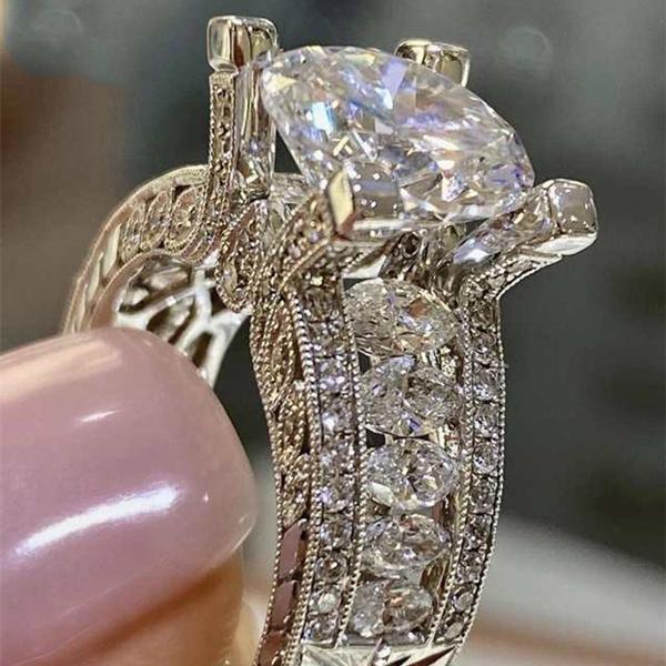 Sterling, rings925silverring, DIAMOND, 925 sterling silver