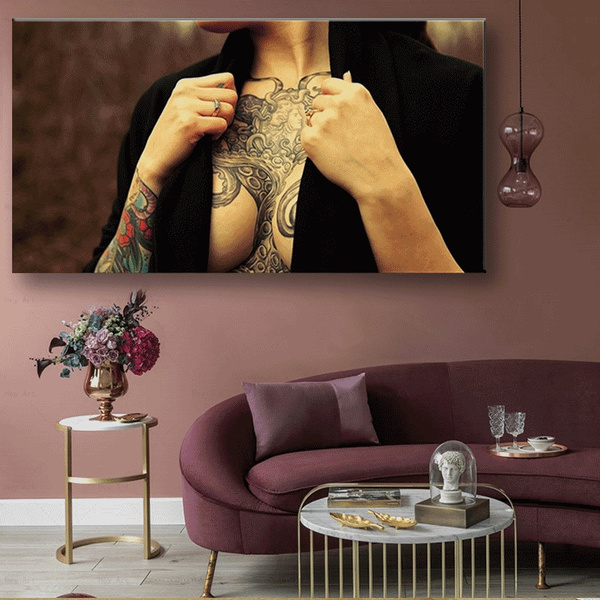 tattoo, canvasprint, Bar, Home