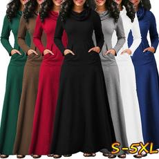 Plus Size, sleeve dress, high waist, Sleeve