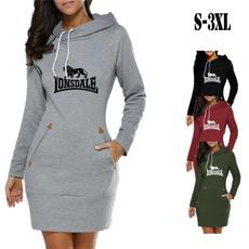 long skirt, hooded, sweater dress, Winter