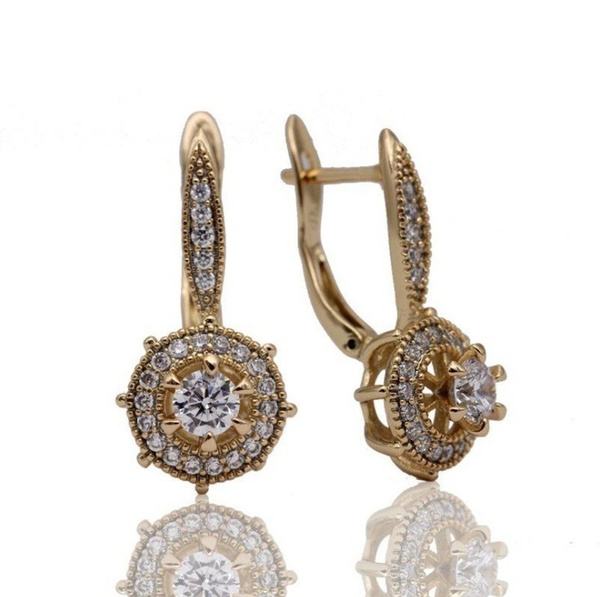 Dangle Earring, anniversaryearring, Flowers, stainless steel earrings