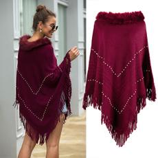 Plush, Fashion, colorblockstriped, Shawl Wrap